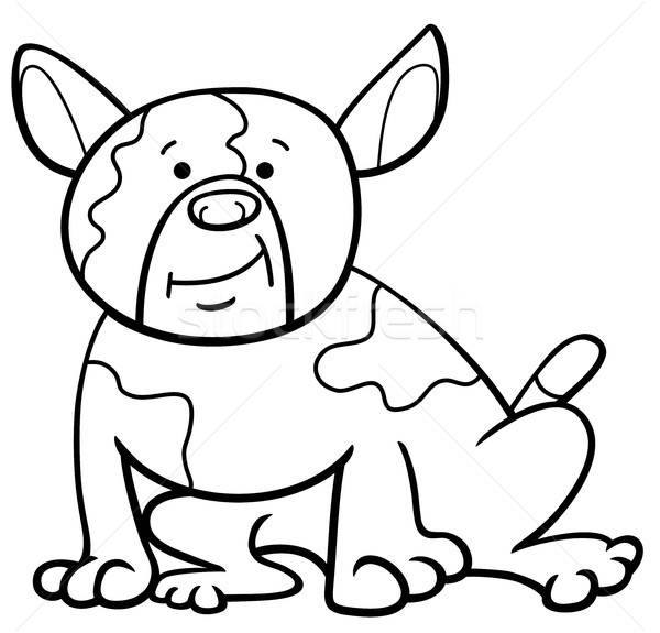 spotted dog cartoon coloring page Stock photo © izakowski