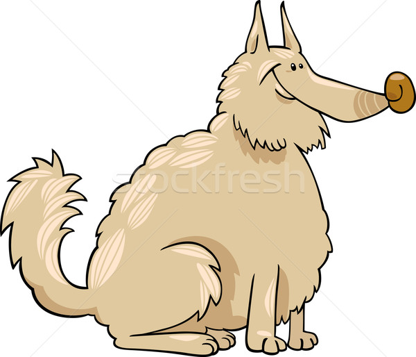 spitz dog cartoon illustration Stock photo © izakowski
