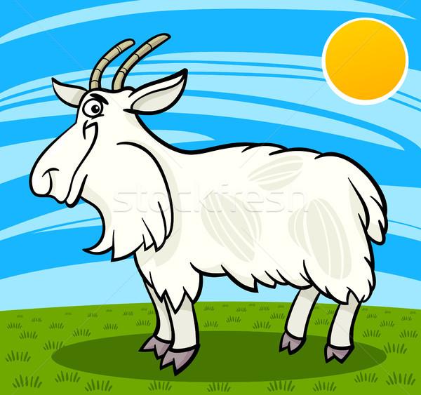 волосатый коза Cartoon иллюстрация смешные Сток-фото © izakowski