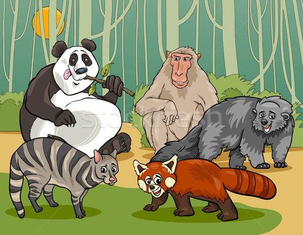 mammals animals cartoon illustration Stock photo © izakowski