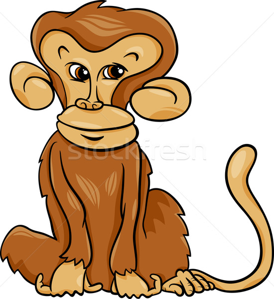 Stock photo: cute monkey cartoon illustration
