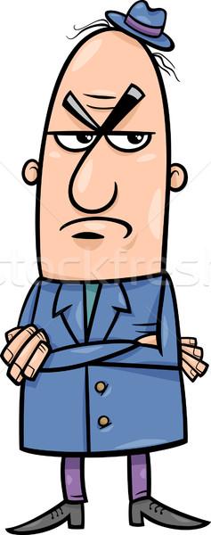 angry man cartoon illustration Stock photo © izakowski