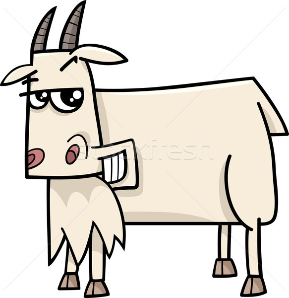 goat farm animal cartoon Stock photo © izakowski