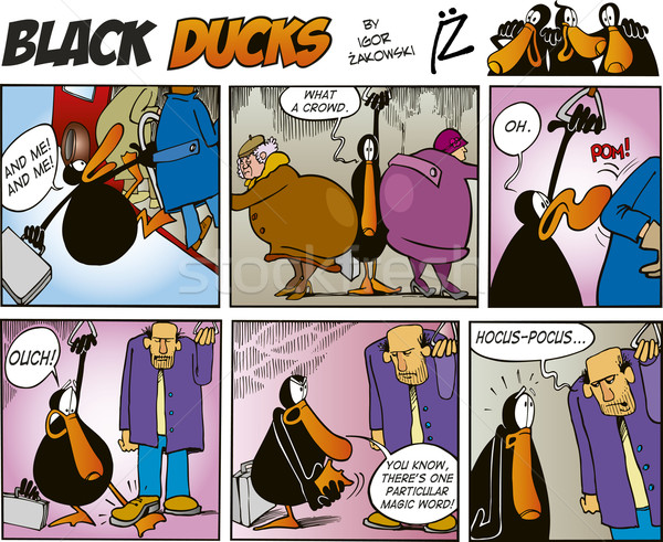 Black Ducks Comics episode 5 Stock photo © izakowski