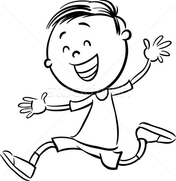 Erkek Karakter Boyama Kitabı Siyah Beyaz Karikatür