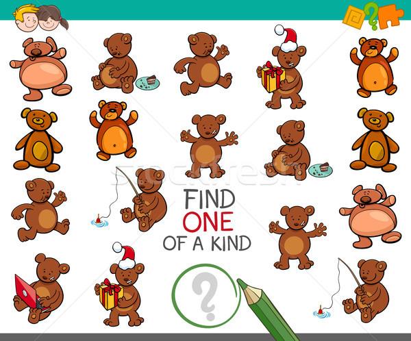 find one of a kind activity with bears Stock photo © izakowski