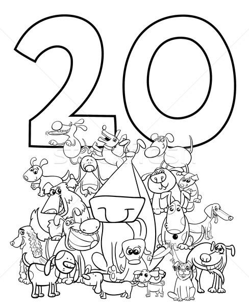 number twenty and funny dogs group Stock photo © izakowski