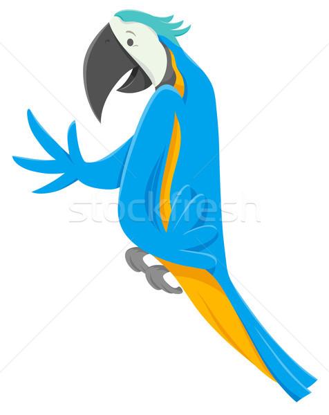 funny macaw bird cartoon animal character Stock photo © izakowski