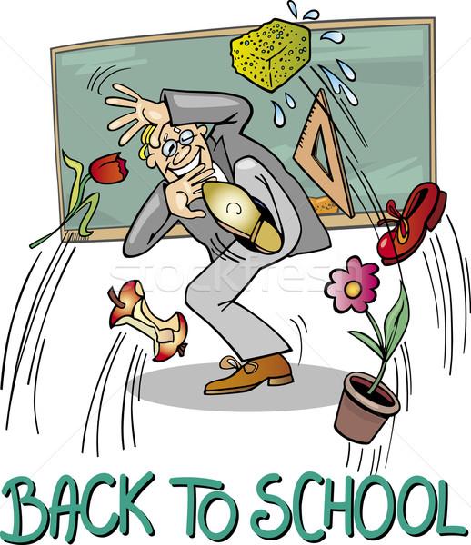 School Teacher at Blackboard Stock photo © izakowski