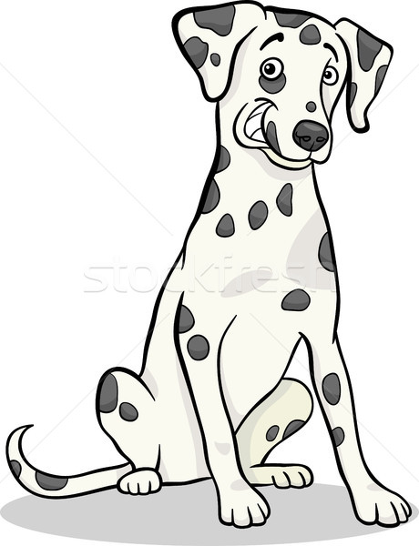 dalmatian purebred dog cartoon illustration Stock photo © izakowski