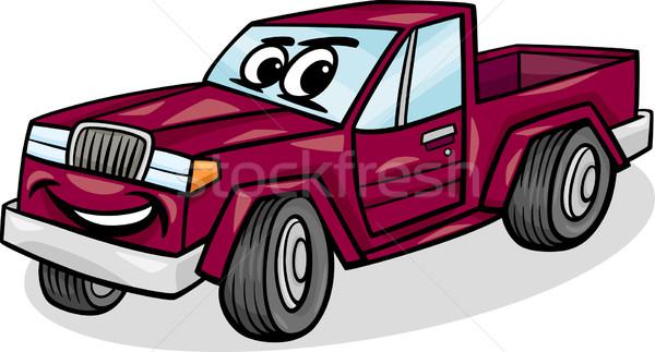 pickup car character cartoon illustration Stock photo © izakowski
