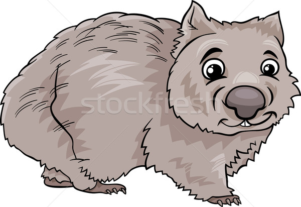 wombat animal cartoon illustration Stock photo © izakowski