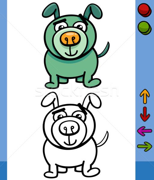 犬 ゲーム 文字 漫画 実例 面白い ストックフォト © izakowski