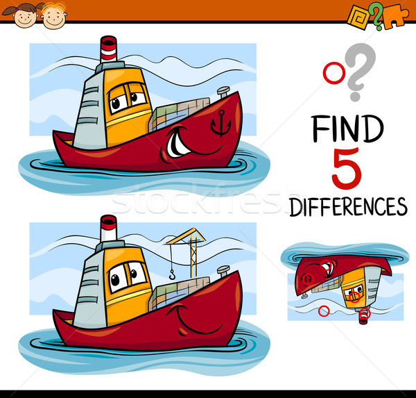 find the differences task for kids Stock photo © izakowski