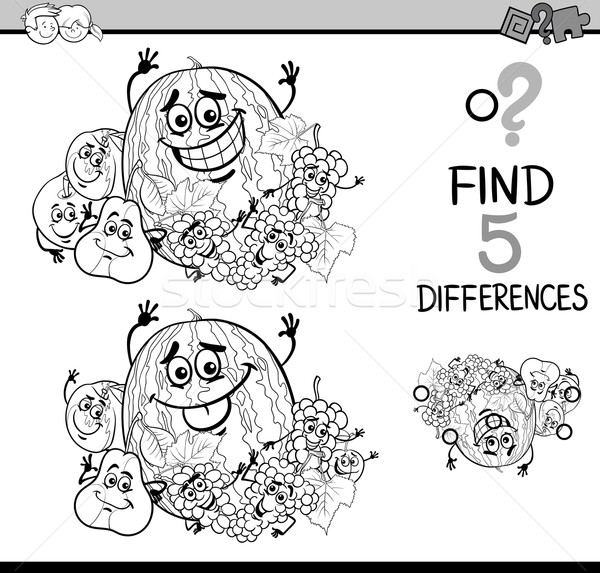 game of differences coloring book Stock photo © izakowski