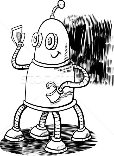 robot character coloring page Stock photo © izakowski