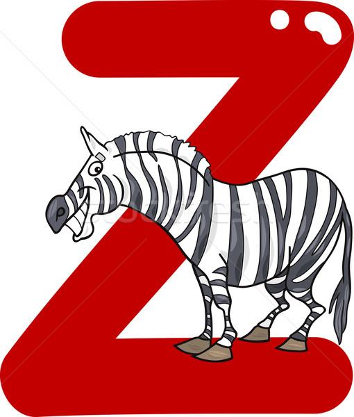 зебры Cartoon иллюстрация письме книга дети Сток-фото © izakowski