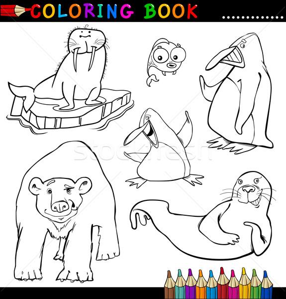 Animale Carte De Colorat Desen Animat Ilustrare