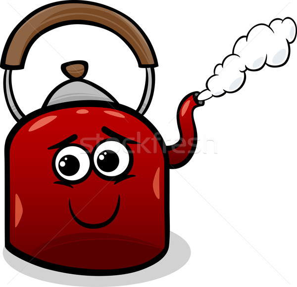 чайник пар Cartoon иллюстрация смешные горячей Сток-фото © izakowski
