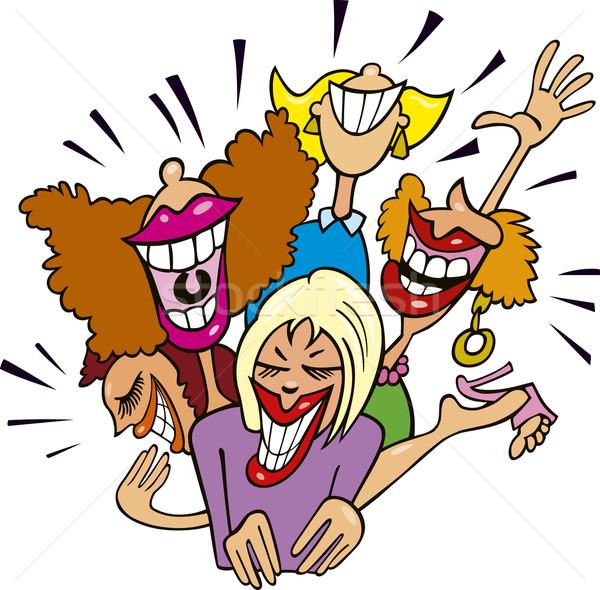 Women having fun and laughing Stock photo © izakowski