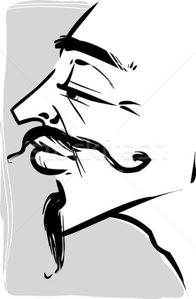 vintage young man illustration Stock photo © izakowski