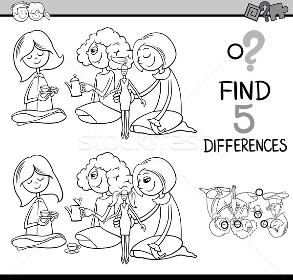 differences activity for coloring Stock photo © izakowski