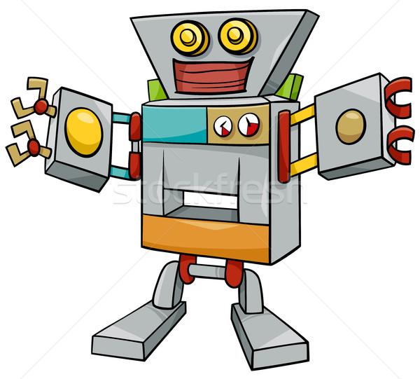 robot cartoon character Stock photo © izakowski