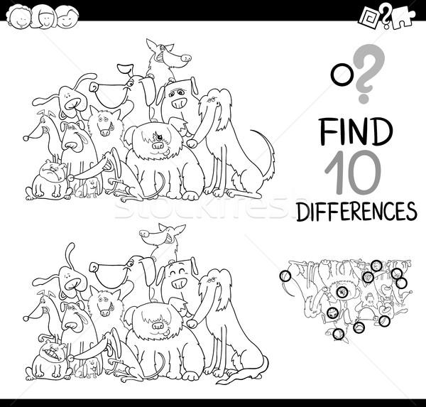 Scarto gioco bianco nero cartoon illustrazione Foto d'archivio © izakowski