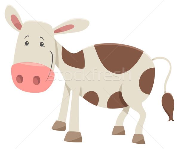 Karakter karikatür örnek inek çiftlik Stok fotoğraf © izakowski