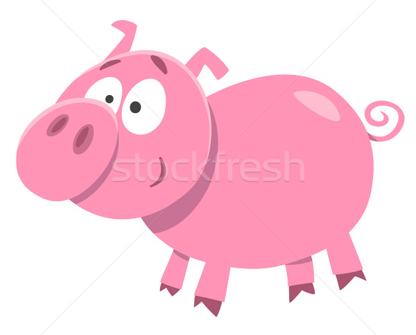Cute свинья характер Cartoon иллюстрация Сток-фото © izakowski