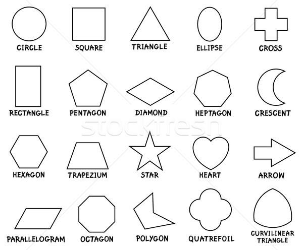 education basic geometric shapes with captions Stock photo © izakowski