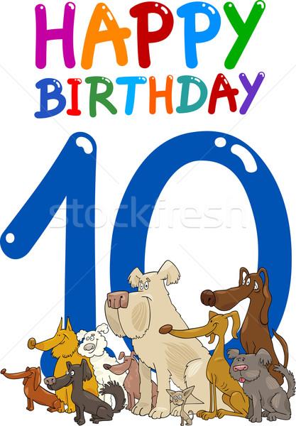 Cumpleanos aniversario diseno Cartoon ilustración feliz Foto stock © izakowski