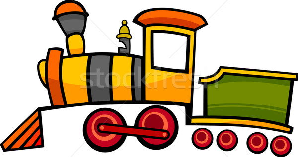 Cartoon tren locomotora ilustración cute colorido Foto stock © izakowski