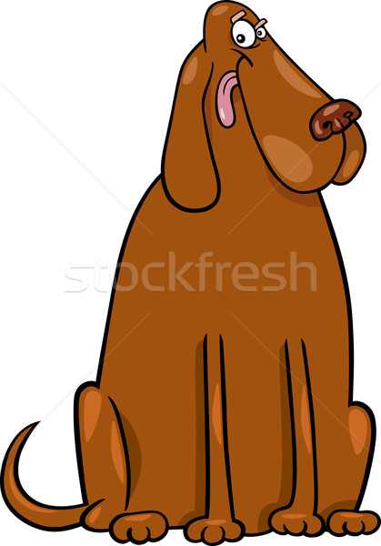 big brown dog cartoon illustration Stock photo © izakowski