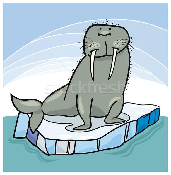 морж льда вектора воды океана Сток-фото © izakowski