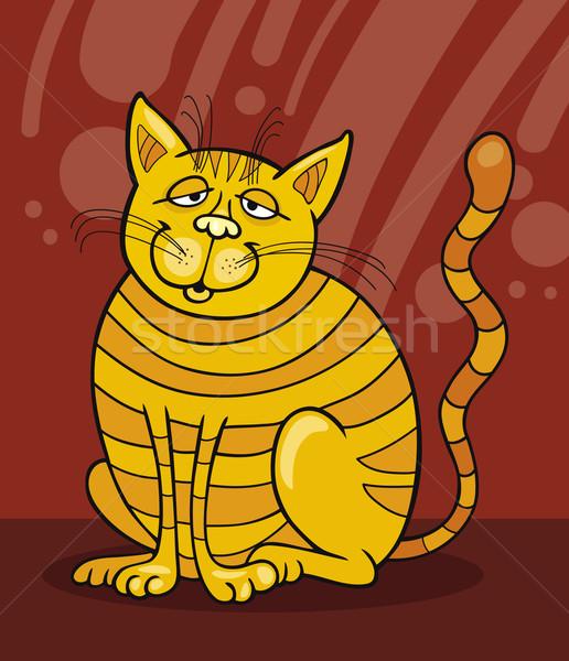 Smiling Yellow Cat Stock photo © izakowski