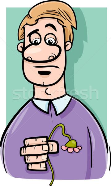 sad man cartoon illustration Stock photo © izakowski