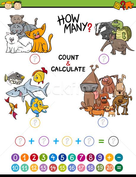 Math образовательный деятельность Cartoon иллюстрация математический Сток-фото © izakowski