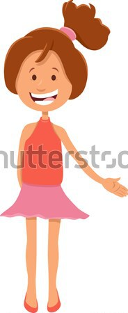latino girl cartoon character Stock photo © izakowski