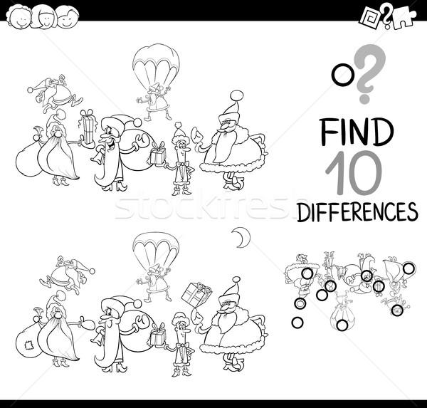 xmas difference game for coloring Stock photo © izakowski