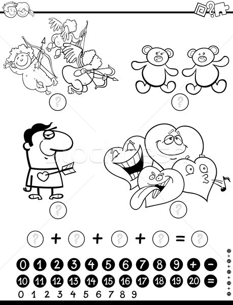 mathematical activity coloring page Stock photo © izakowski