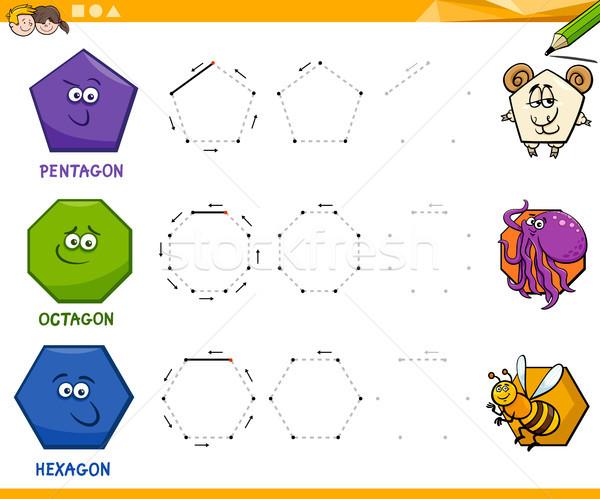 геометрический рисунок образовательный Cartoon иллюстрация Сток-фото © izakowski