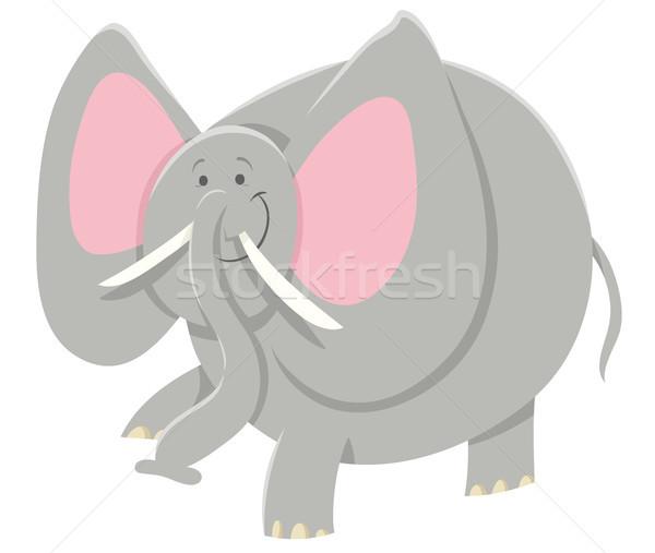 Karikatür afrika fil hayvan karakter örnek safari Stok fotoğraf © izakowski