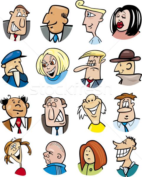 喜怒哀楽 漫画 実例 異なる ストックフォト © izakowski