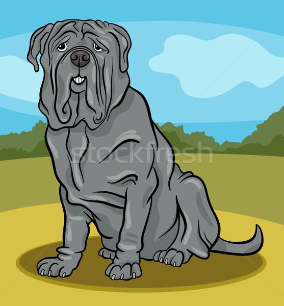 дог собака Cartoon иллюстрация Cute чистокровных собак Сток-фото © izakowski