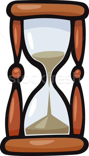 Kum saati sanat klibi karikatür örnek saat dizayn Stok fotoğraf © izakowski