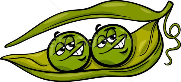 like two peas in a pod cartoon Stock photo © izakowski