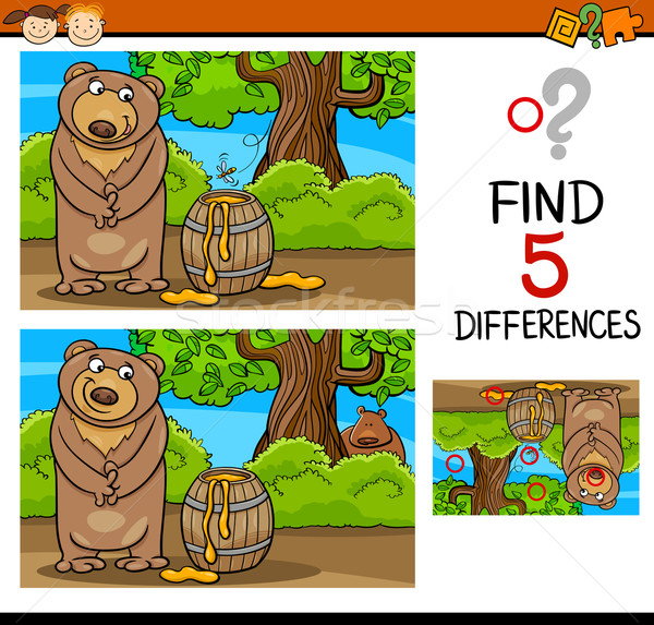 find differences task for kids Stock photo © izakowski