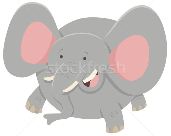 elephant cartoon animal character Stock photo © izakowski