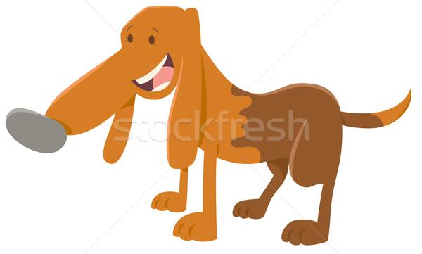 happy spotted dog cartoon Stock photo © izakowski